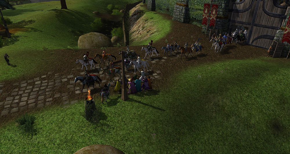 Marching out of the South Gate of Bree-town